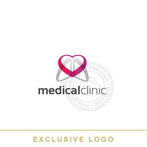 Medical Clinic Heart Logo - Pixellogo