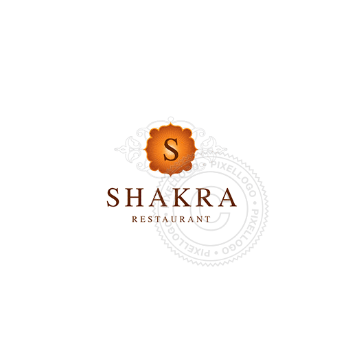 Indian Floral Design-Logo Template-Pixellogo