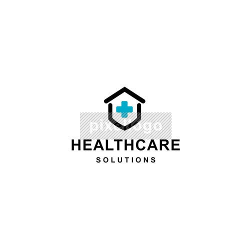 Healthcare Center Logo - Cross in a Home | Pixellogo