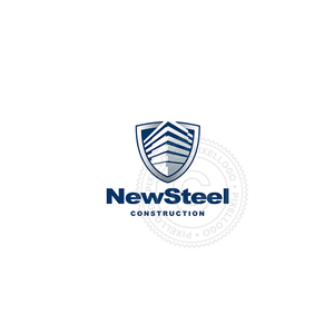 Steel Construction-Logo Template-Pixellogo