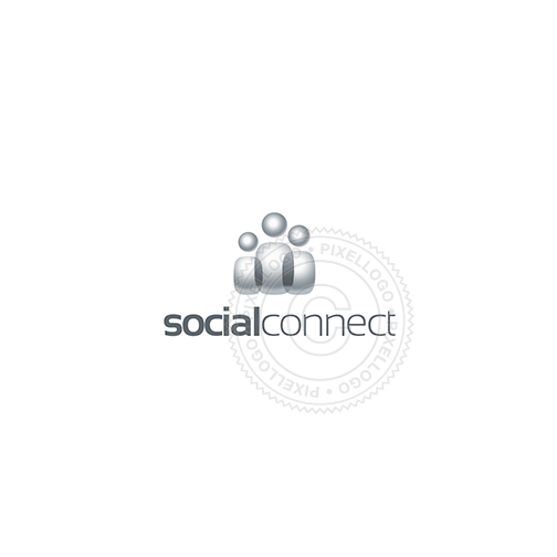 Social Connect - Pixellogo