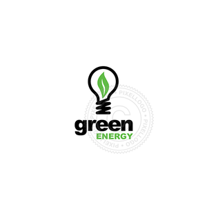 Green Bulb Energy - Pixellogo