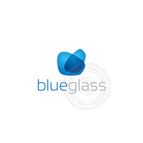 Blue Glass - Pixellogo