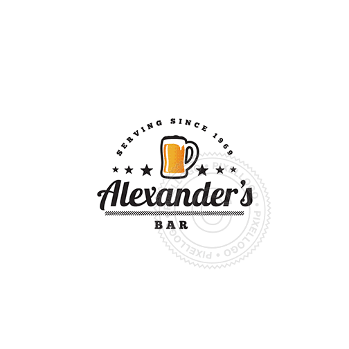 Irish Bar - Pixellogo