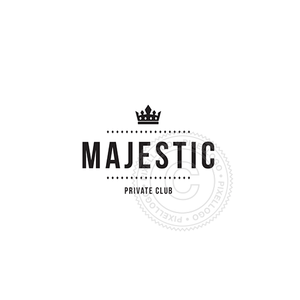 Majestic Crown-Logo Template-Pixellogo