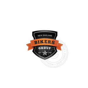 Bikers Gang Shield - Pixellogo