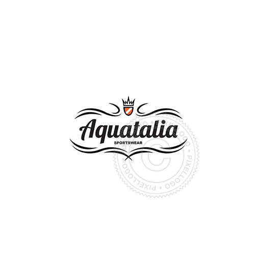 Ornamental Clothing Label - Pixellogo