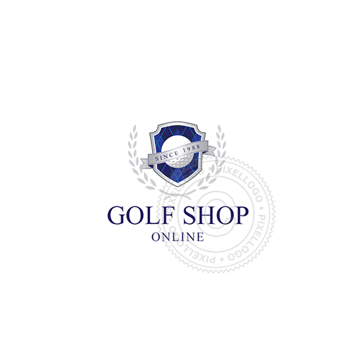 Gold Shop Badge-Logo Template-Pixellogo