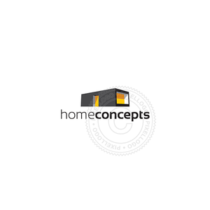 Modular Housing-Logo Template-Pixellogo