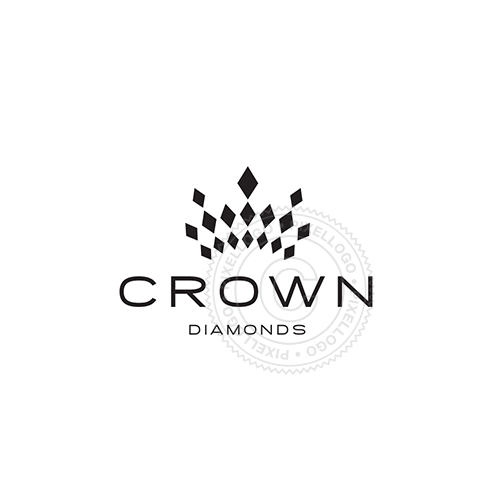 Diamond Crown logo design | Pixellogo