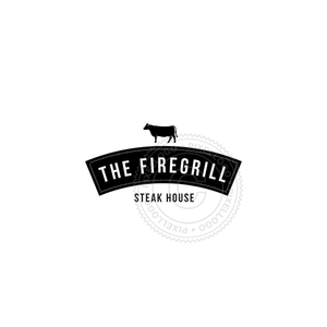 Steak House Restaurant - Cow logo | Pixellogo