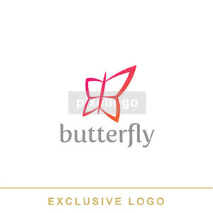 Red Butterfly - Pixellogo