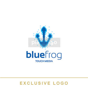 Digital Frog Foot Print - Pixellogo