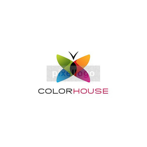 Color House Butterfly - Pixellogo
