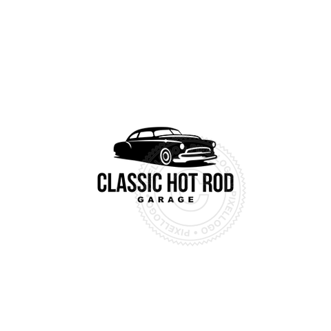 Classic Hot Rod Garage - Pixellogo