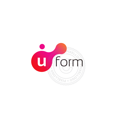 3D Printing logo - liquid forms | medical industry | Pixellogo