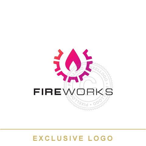 Fire Works Logo - Pixellogo