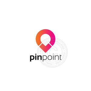Pin Point logo - Pin logo with Arrow | pixellogo