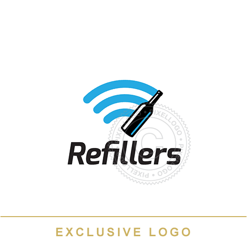 Alcohol Delivery logo - Pixellogo