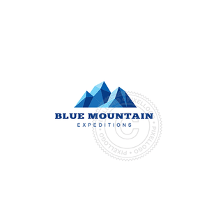 Blue Mountain Peaks-Logo Template-Pixellogo