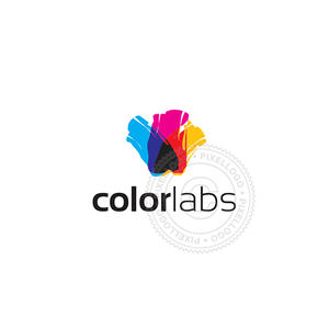 Color Labs-Logo Template-Pixellogo