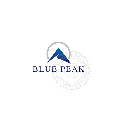 Blue Mountain Peak-Logo Template-Pixellogo
