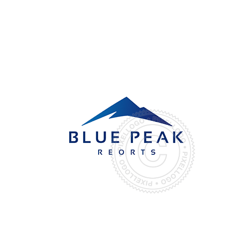 Blue Mountain - Pixellogo