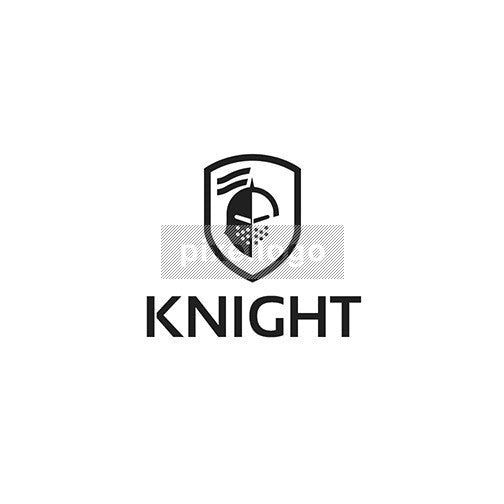 Knight Shield Logo - Pixellogo