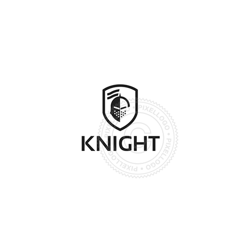 Knight Shield Logo - Knight helmet in a shield | Pixellogo