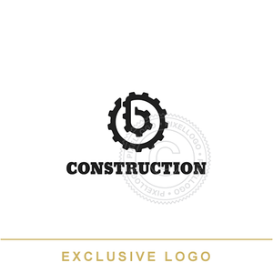 Gear Construction Logo - Pixellogo