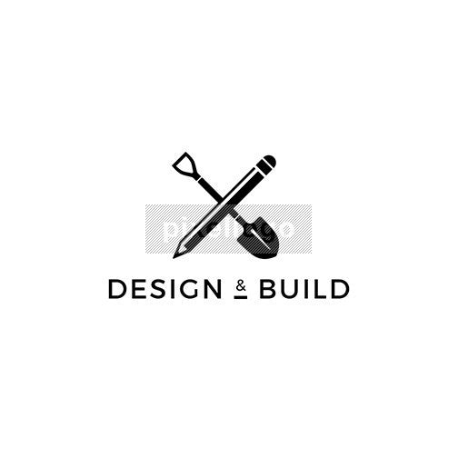Landscape Design Logo - pencil and shovel logo | logodive