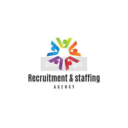 Recruitment & Staffing Agency Logo - 5 people in a circle | Logodive