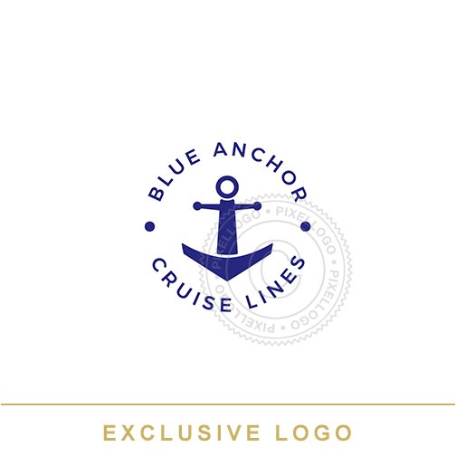 Cruise Line Anchor logo - Exclusive logo  | Pixellogo