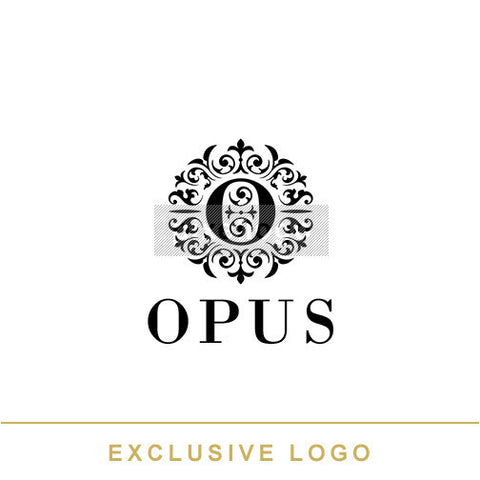Floral crest - O embedded in ornaments | Pixellogo