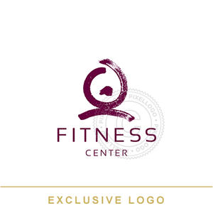 Fitness Trainers - Girl Exercising - Pixellogo