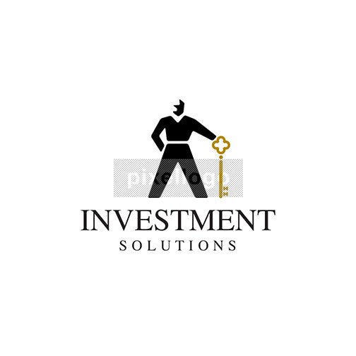 Real Estate Broker - Man Holding Golden Key | Pixellogo
