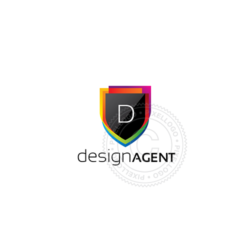 Designer Shield - Pixellogo