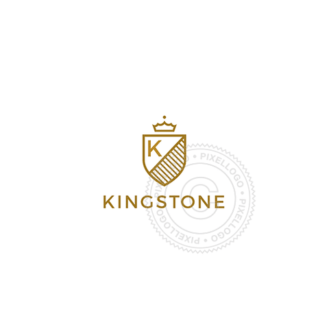 Gold Shield - Pixellogo
