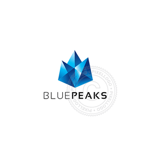 Diamond Mountain Peaks-Logo Template-Pixellogo