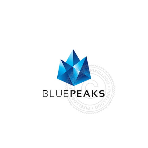 Diamond Mountain Peaks - Pixellogo