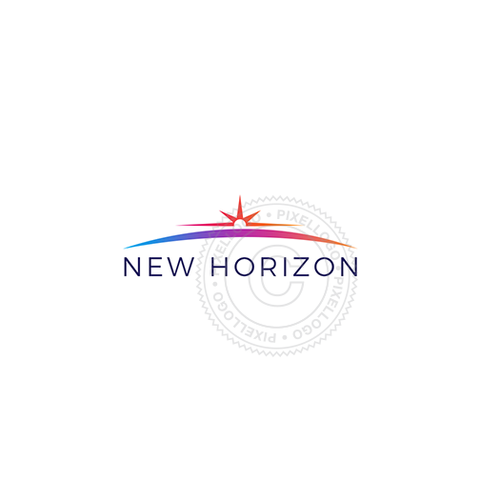 Sunrise Horizon Logo - Sunset logo | Pixellogo