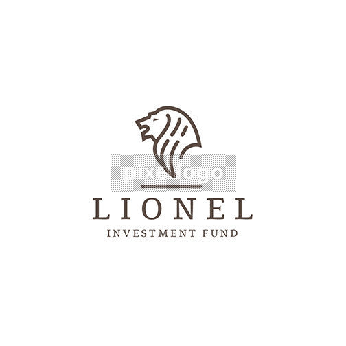 Lion Investment Fund logo - Gold lion roaring | Pixellogo