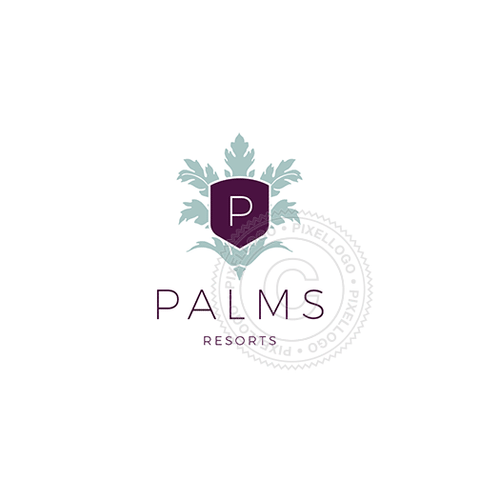 Palms Leaves Resort And Spa-Logo Template-Pixellogo