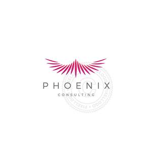 Phoenix Consulting logo - Cool phoenix bird flying | Pixellogo