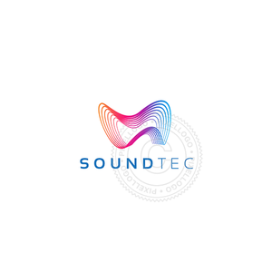 Audio Technology Logo - sound waves | Pixellogo