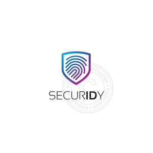 ID Security - fingerprint technology logo | Pixellogo