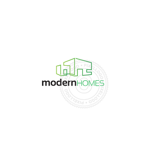 Modern home Architecture logo - Contemporary Architecture | Pixellogo