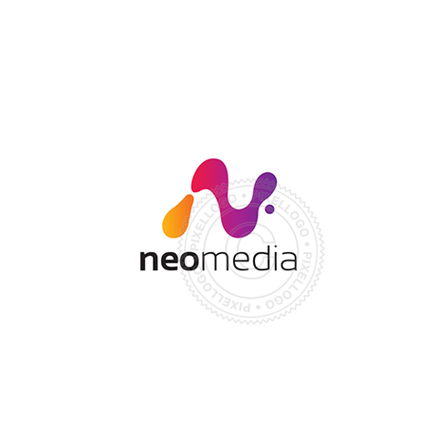 Liquid N Media Logo - Pixellogo