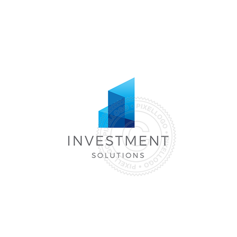 Investment Group Glass-Logo Template-Pixellogo