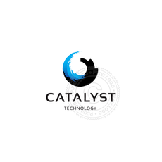 Catalyst logo - blue Wave surfing Logo-2944